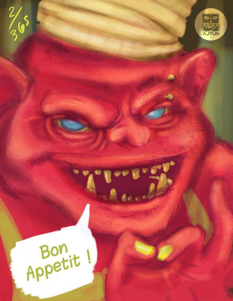 Ogre Chef Dailyspitpaint Gtd365 Www Facebook Com Ajtundesign Ogre Character Design Art