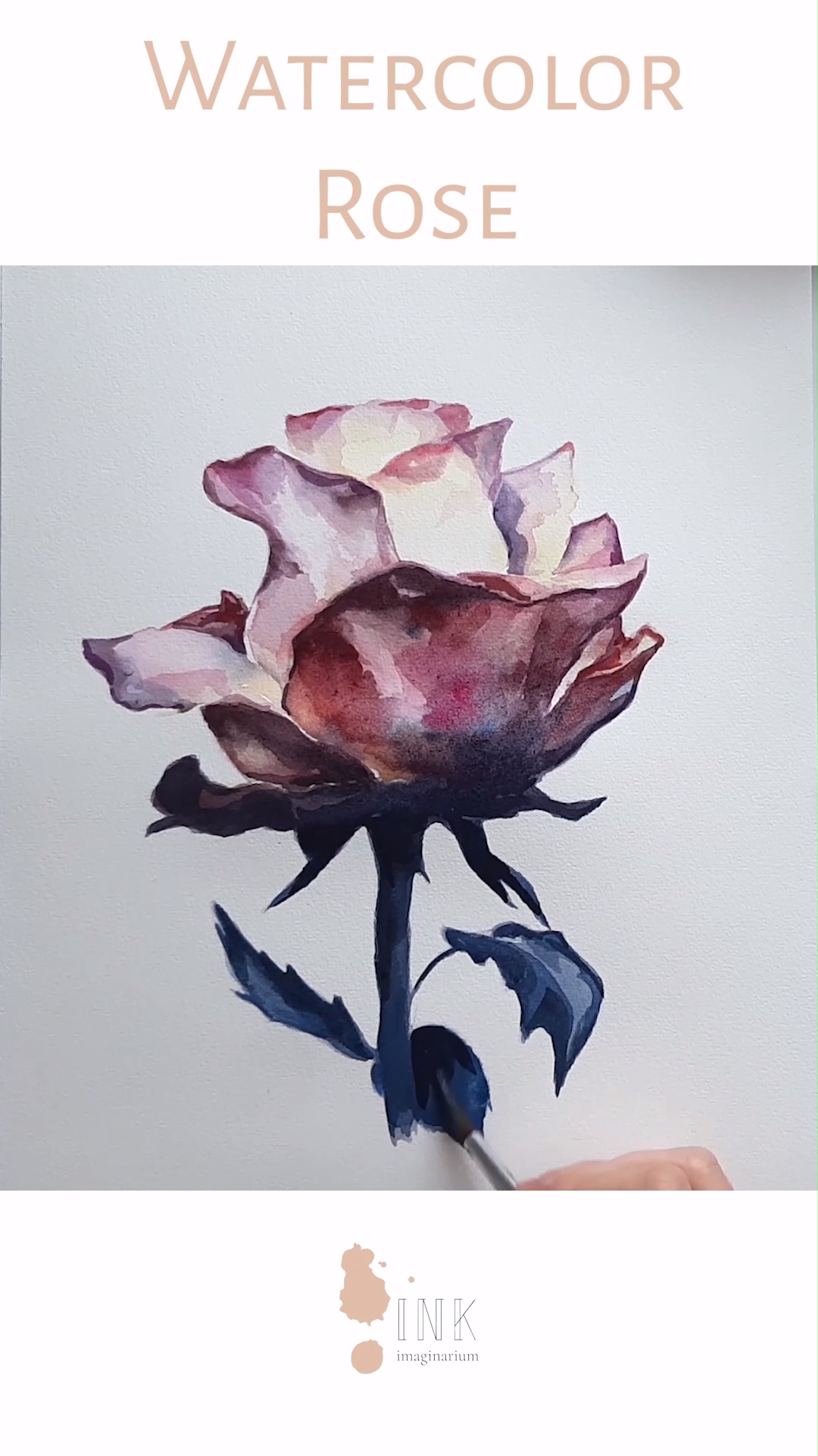 Watercolor Rose Painting – Creative process video