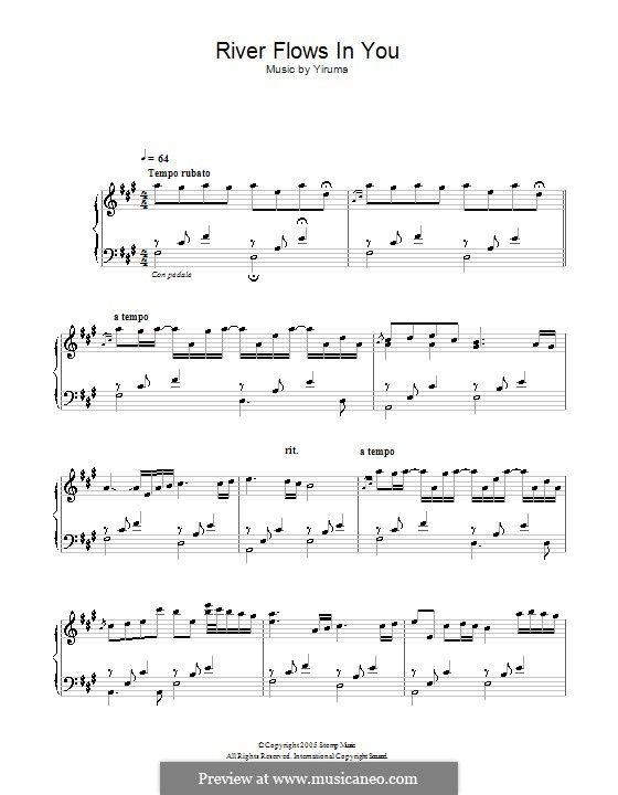 River Flows In You Con Immagini Spartiti Musicali Clarinetti