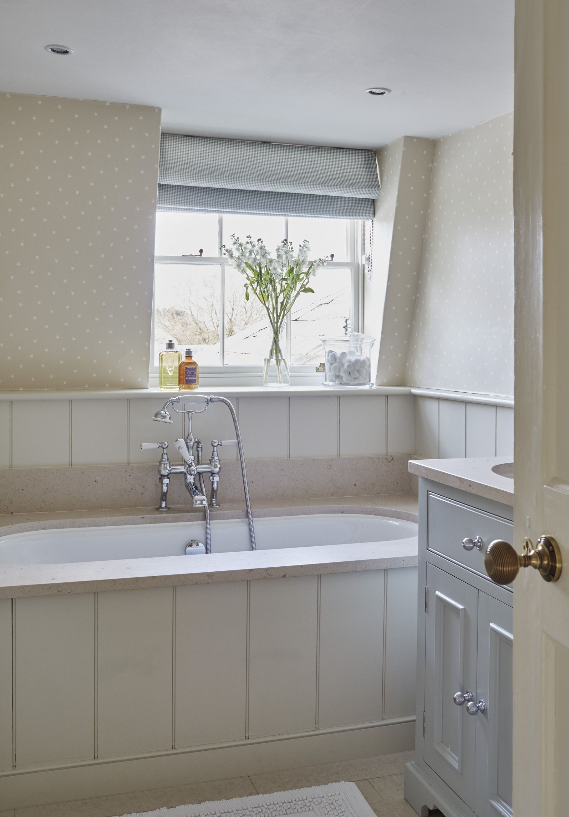 Sims Hilditch Georgian Rectory Bathroom With Panelling And A Built