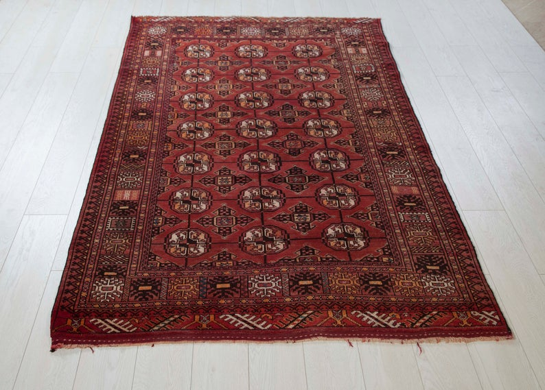 6 72ft X 4 13ft One Of A Kind Antique Kazak Area Rug Faded Red Caucasian Vintage Handmade Boho Carpet 283 In 2020 Boho Carpets Antiques Rugs