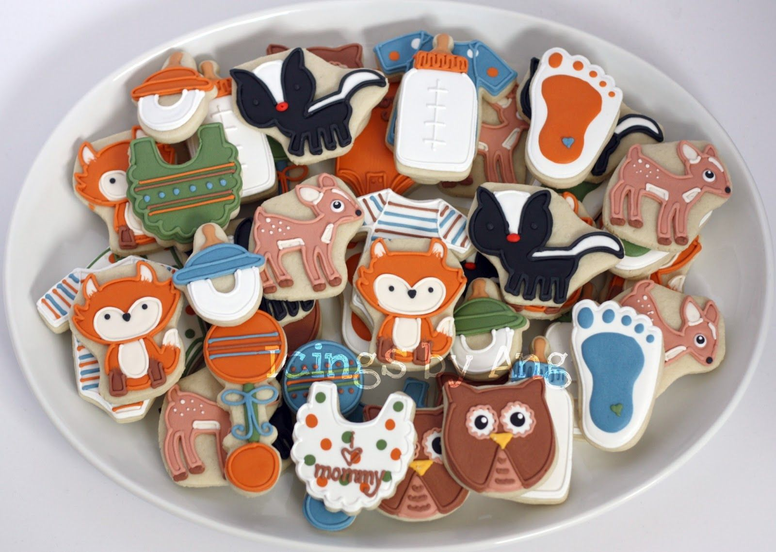 Bottle brush woodland animals - Custom Cake Icings By Ang Woodland Animals Cookies