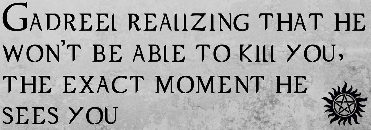 gadreel x reader | Tumblr | Gadreel imagines | Supernatural