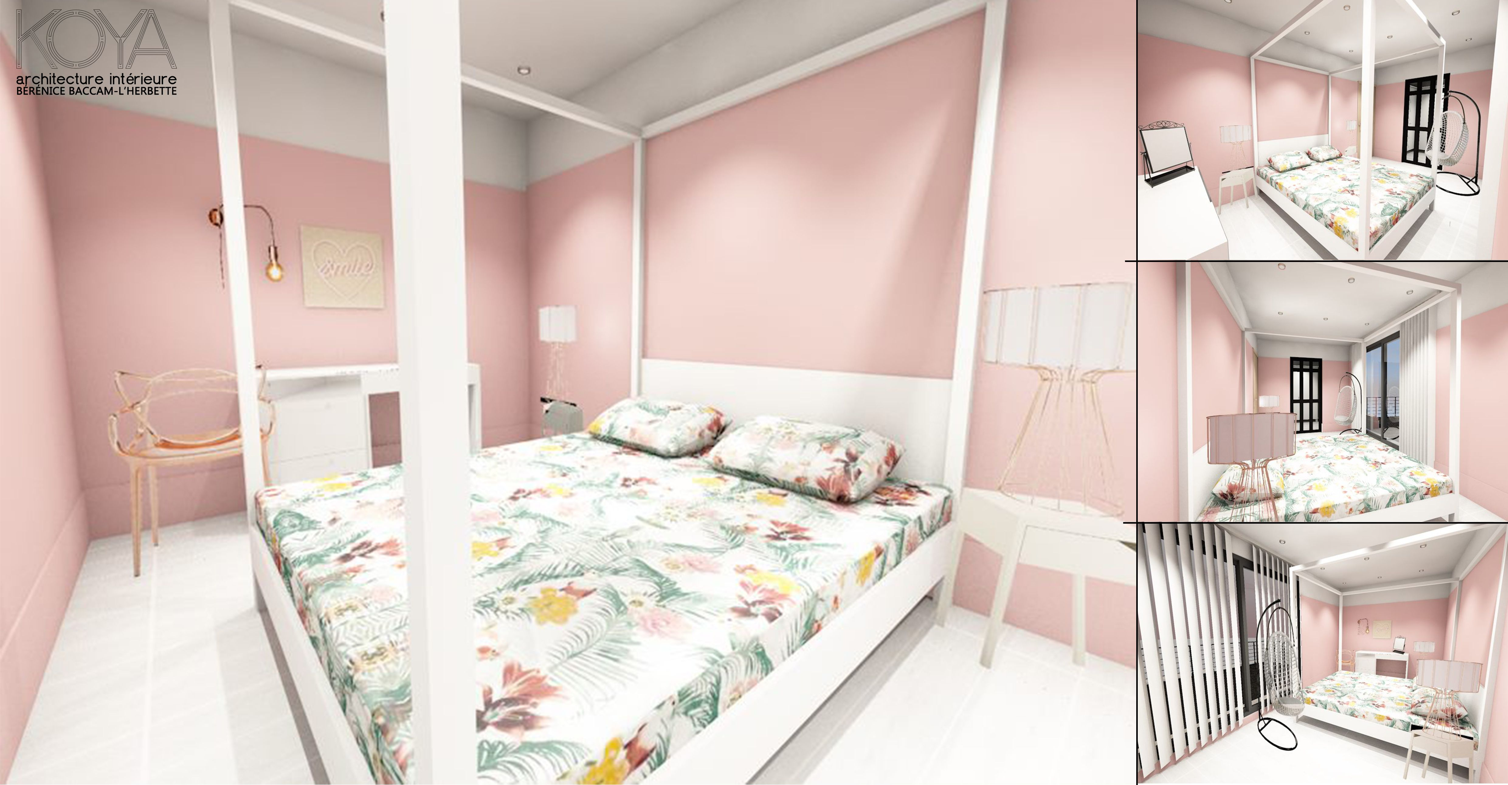 Décoration pour une chambre parentale au rose poudré pour une ...