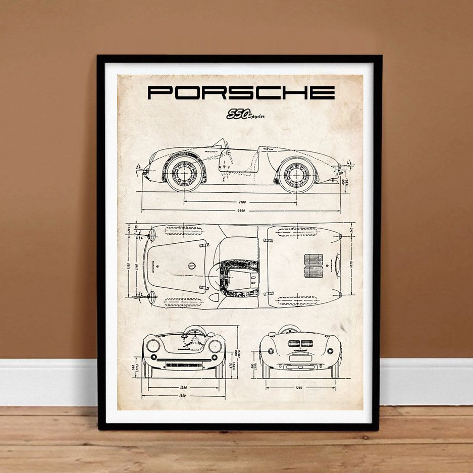 Decorar Pared Porche Porsche 550 Poster 18x24