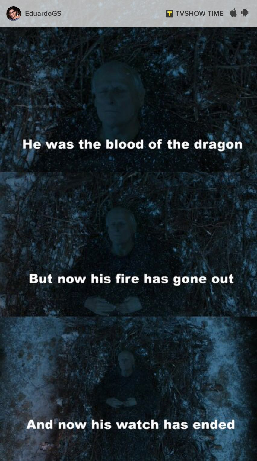 You're losing all your friends Tarly