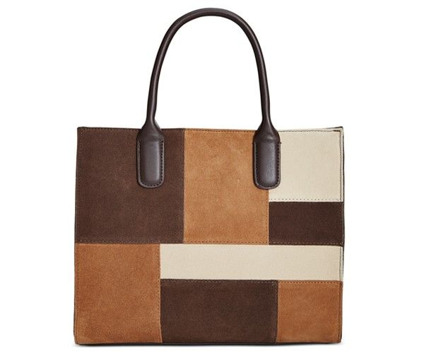 Giani Bernini Suede Patchwork Satchel, Only at Macy's - Handbags & Accessories - Macy's