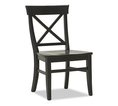 Pottery Barn Aaron Black Wood Side Dining Chair On Sale At Better Than New In Longwood