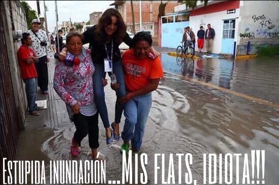 #LadyReportera, el meme con los pies más secos de todo Puebla.