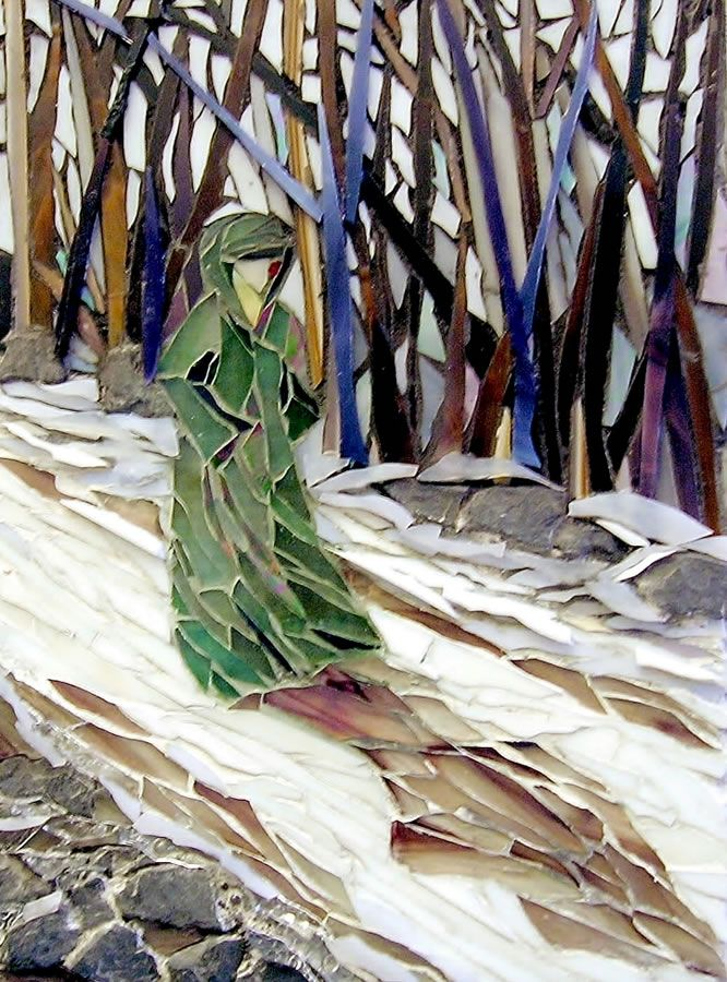 Jade by Laura Rendlen I love this beautiful depiction of the transition betwixt Winter and Spring. Beautiful trees with hues of blues and browns!