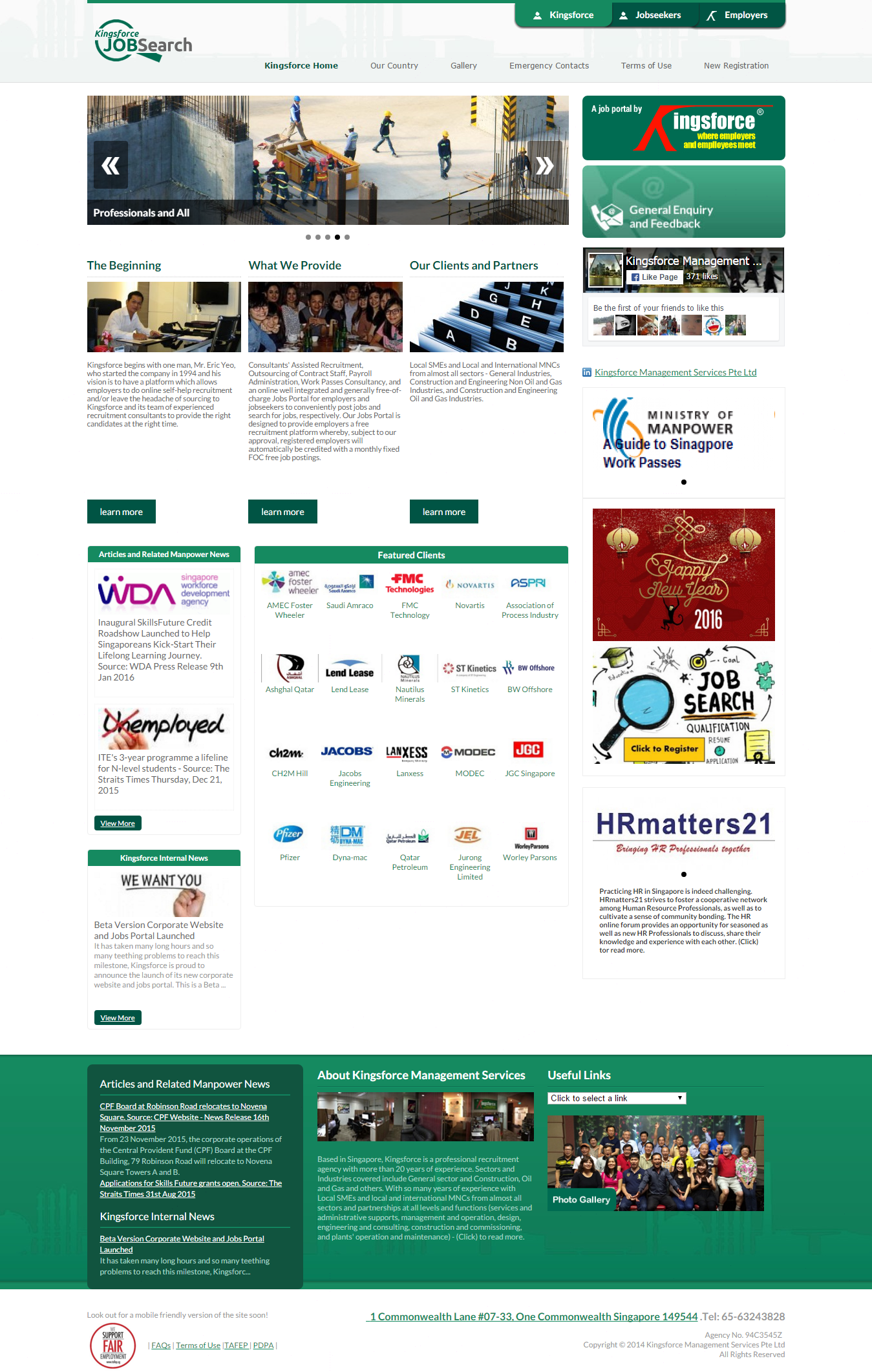 cool website design proposal for kelly services singapore