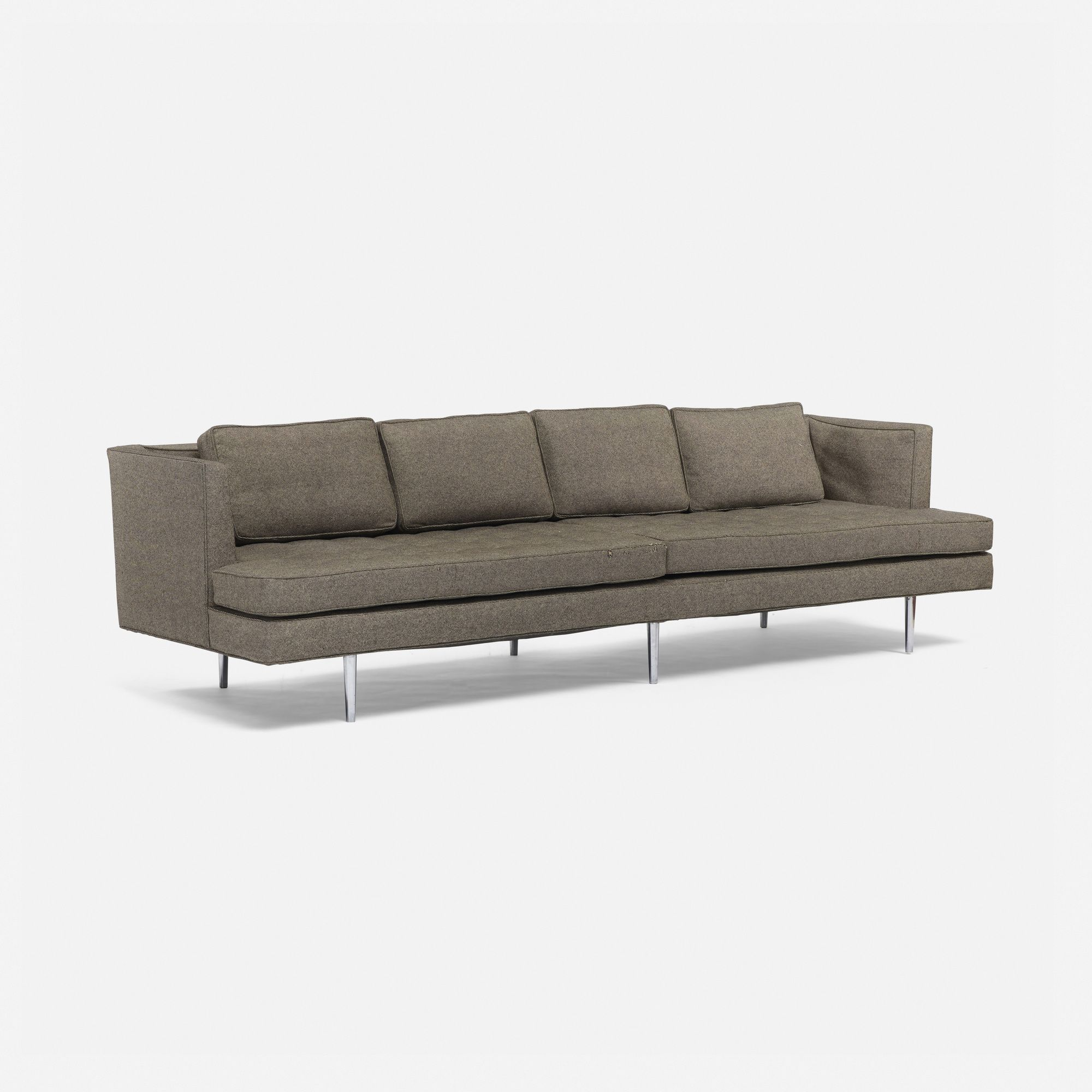 Lot 711: Edward Wormley. Sofa, Model 4907A. 1956, Upholstery, Chrome