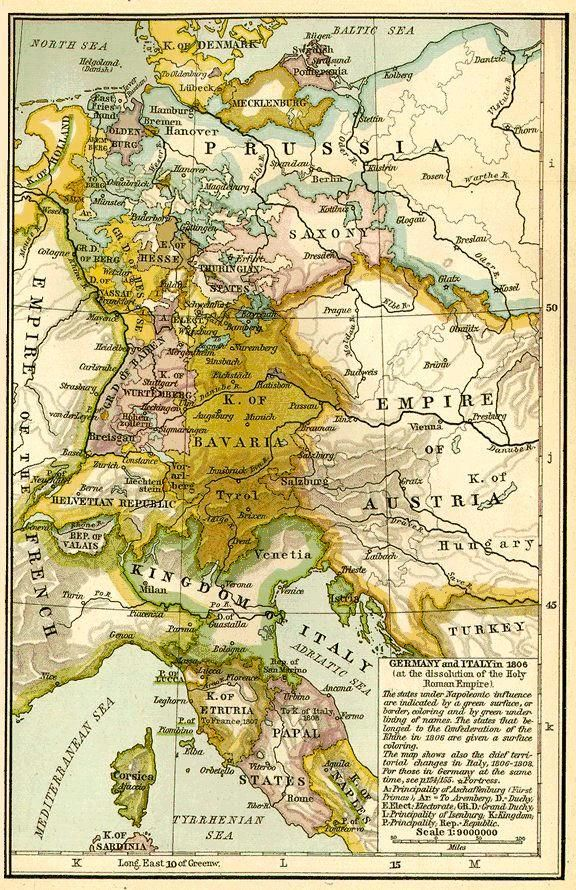 Map Of Germany And Italy.Germany Italy Map 1806 Heritage Map Historical Maps Italy Map