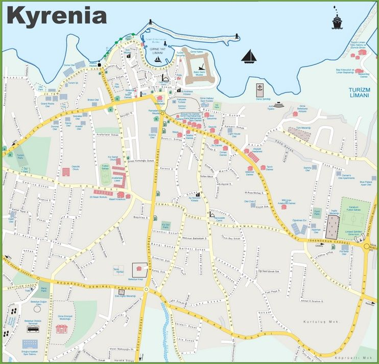 Kyrenia tourist map maps pinterest tourist map cyprus and kyrenia tourist map cyprus islandtourist gumiabroncs Image collections