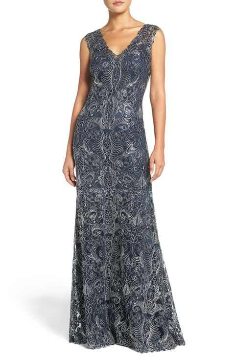 Tadashi Shoji \'Kelly\' Embroidered Mermaid Gown | Dresses I love ...