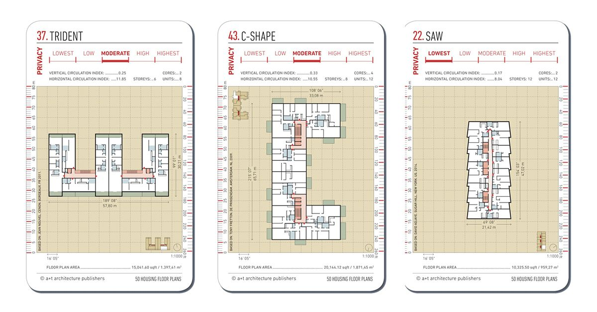 20 Examples Of Floor Plans For Social Housing Social Housing Floor Plans Collective Housing