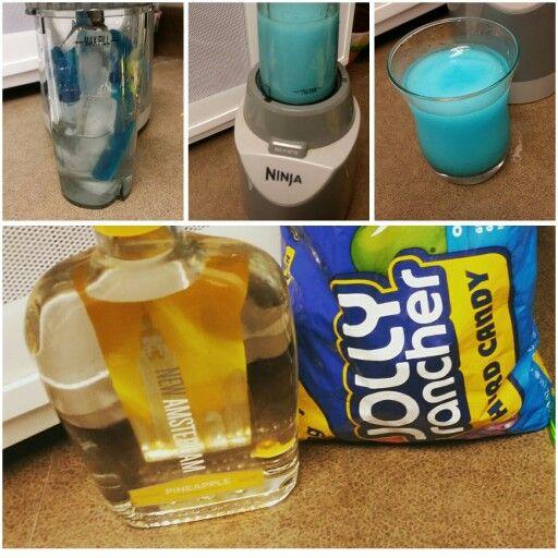 Frozen Jolly Rancher Drink 8 Ice Cubes Amsterdam Pineapple Vodka