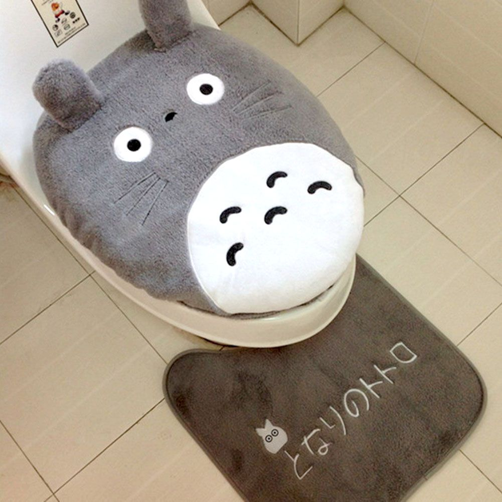 Totoro Toilet Seat Cover lol never would I do that hahahahahahahahah