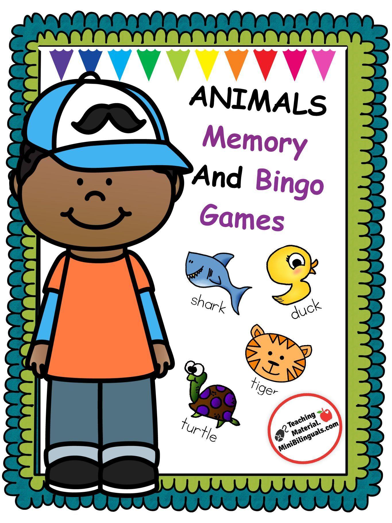 Animals Memory And Bingo Games