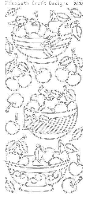 Elizabeth Craft Designs PeelOff Sticker 2533B Cherry by