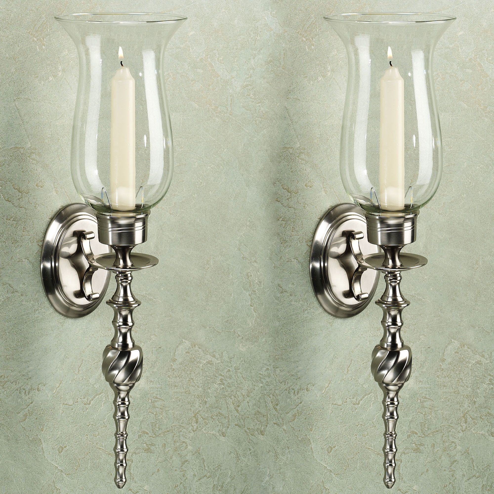 Daria swirl solid brass wall sconce pair