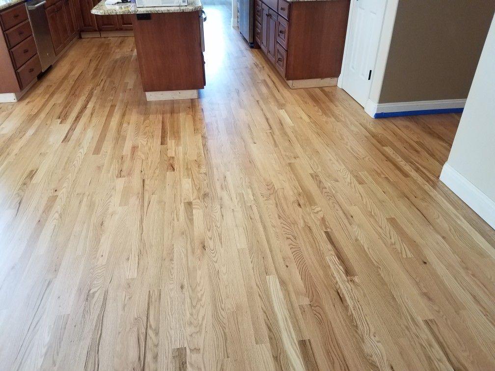 2 1/4 Red Oak Hardwood. Installed, Sanded, Sealed