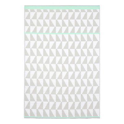 tapis mintet blanc cass et gris textile blanc cass. Black Bedroom Furniture Sets. Home Design Ideas