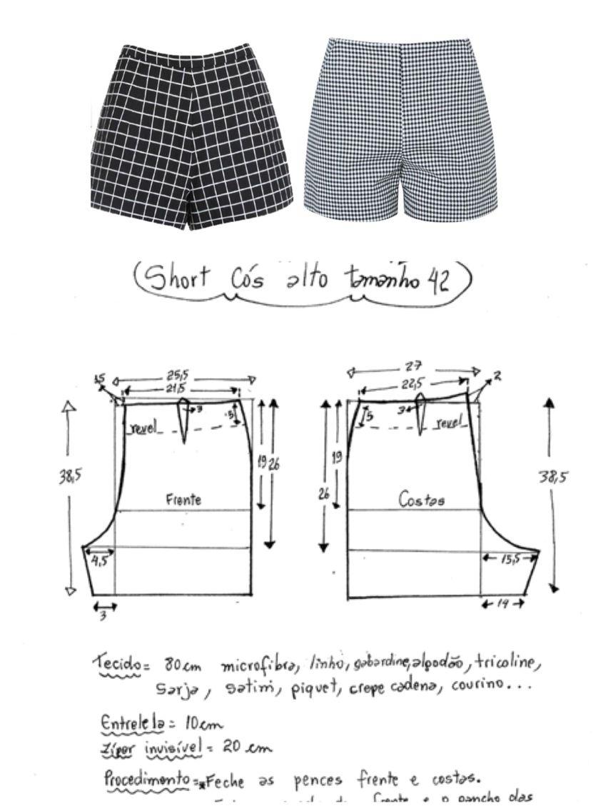 Şort dikimi | Sweing stiching pattern | Pinterest | Sewing, Sewing ...