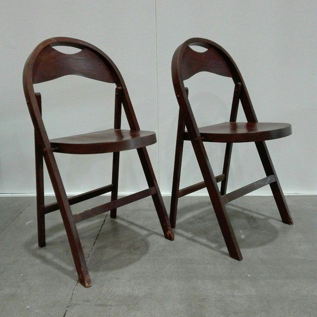 100€] Coppia di sedie pieghevoli Tric di Castiglioni. Belle