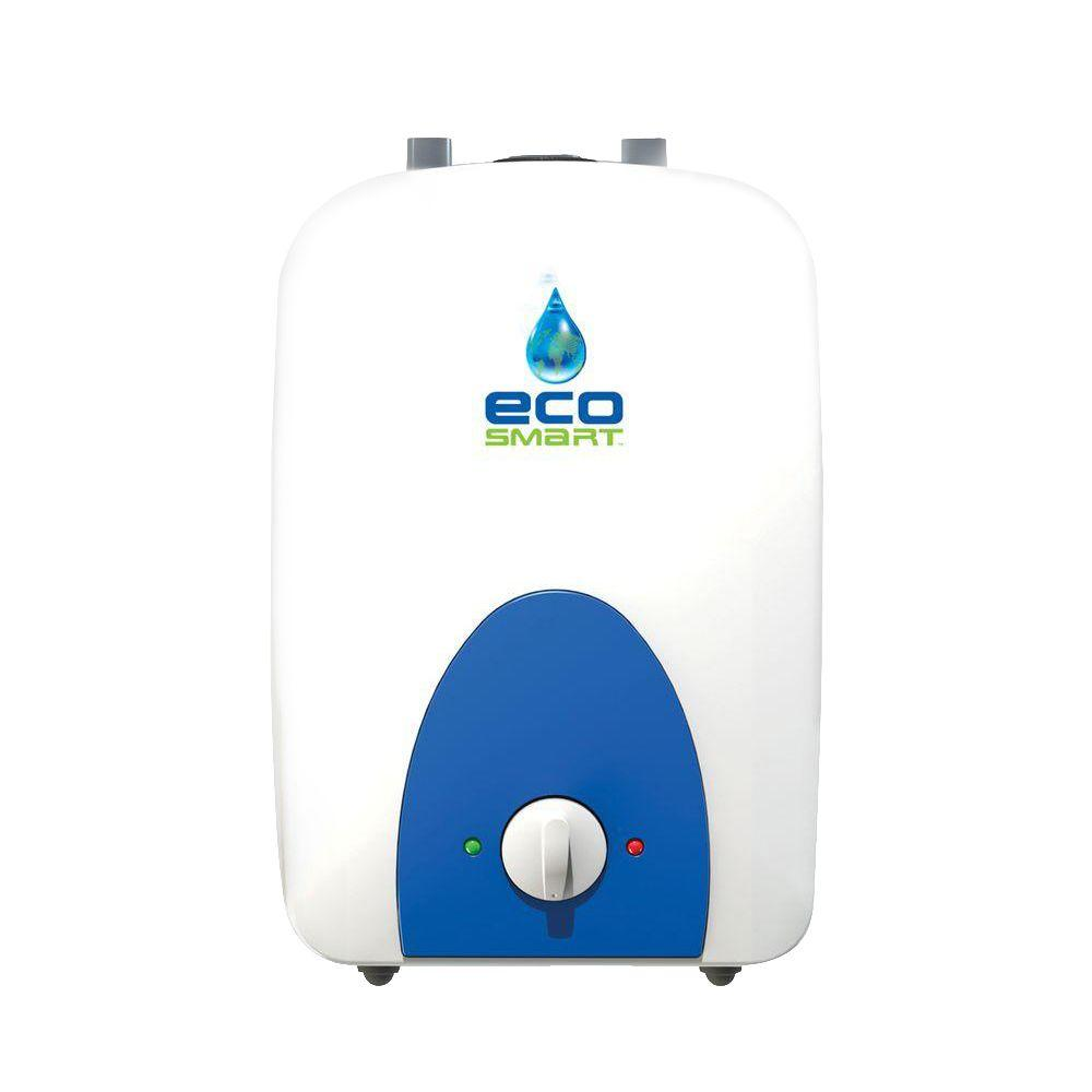 Ecosmart 1 Gal 1 Year 120 Volt Electric Mini Tank Point Of Use Water Heater Eco Mini 1 The Home Depot On Demand Water Heater Water Heater Tankless Water Heater