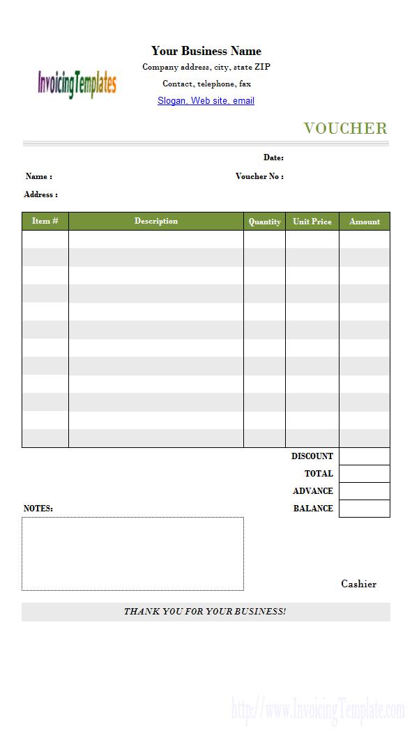 Payment Voucher Format For B Paper  Voucher    Template