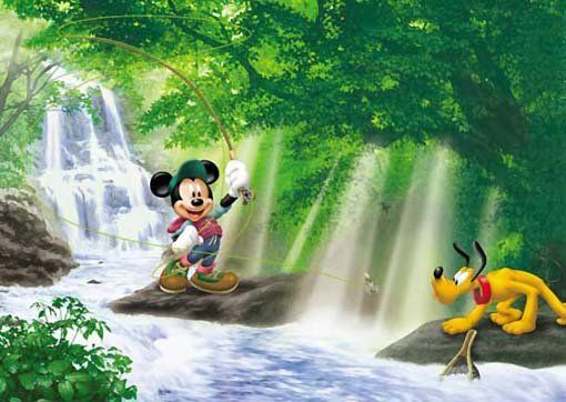 Pluto and Mickey Mouse - Fishing