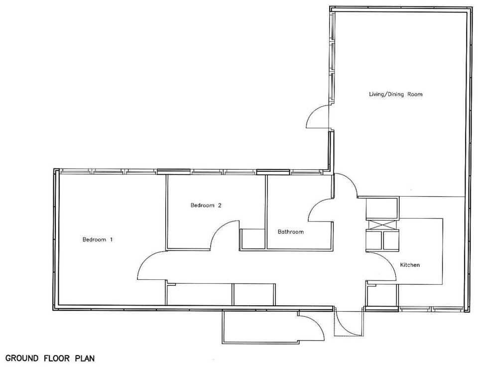 2 Bedroom Bungalow Floor Plans: 2 Bedroom 2 Bath Cottage Plans