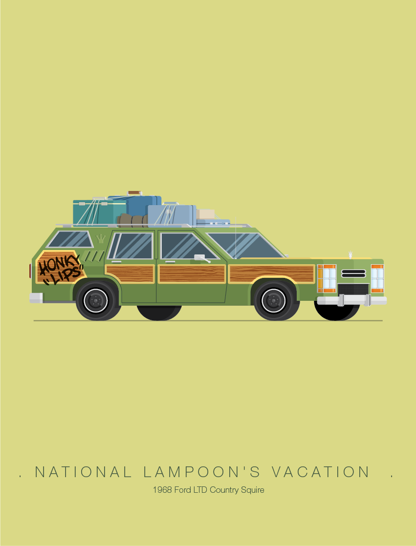 Fred Birchal National Lampoons Vacation Famous Movie Cars Movie Posters Minimalist