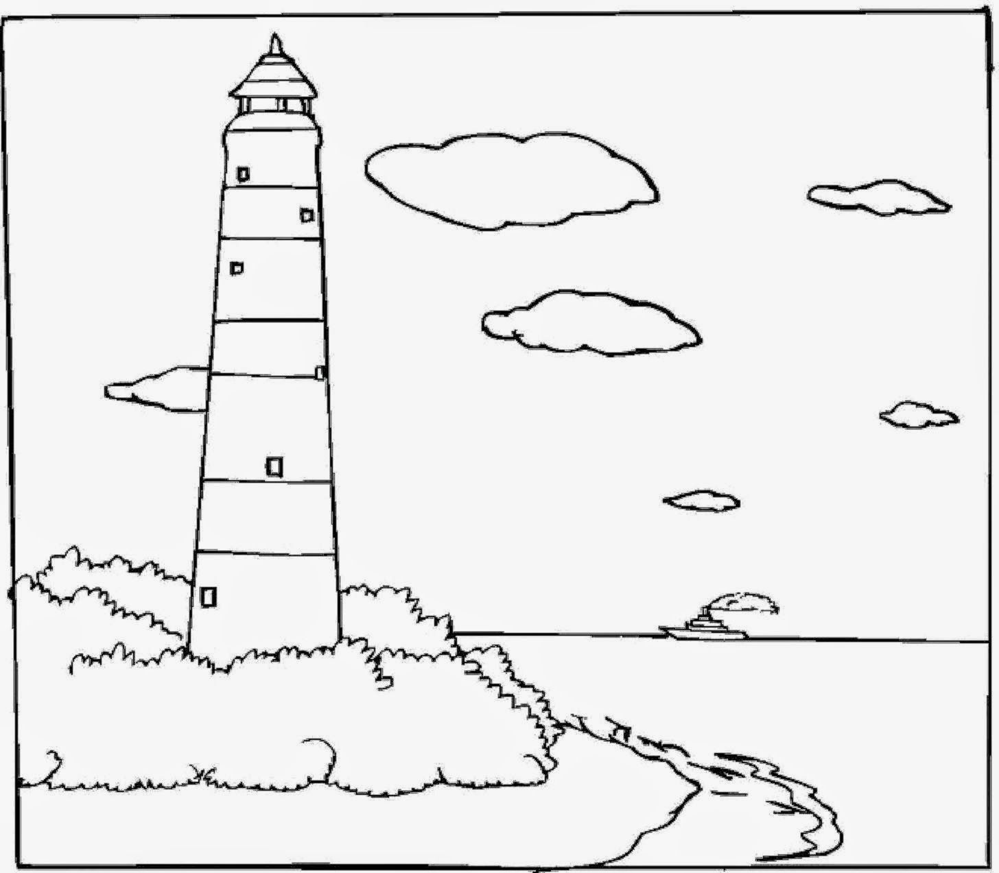free printable lighthouse coloring pages for kids lighthouses