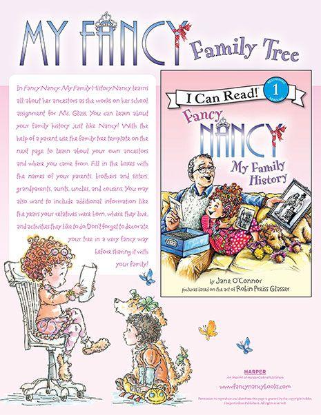 My Fancy Family Tree Printable Reading Activity Fancy Nancy