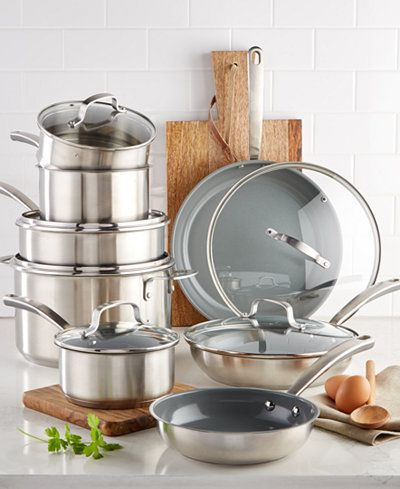Culinary Science By Martha Stewart Collection 14 Pc Cookware Set