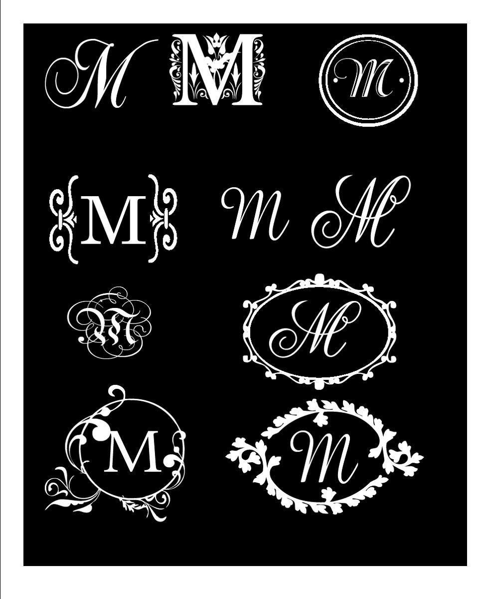 Vinyl lettering decals for crafts - Monogram Decal Elegant Single Letter Vinyl Wall Car Decal You Choose Design Letter