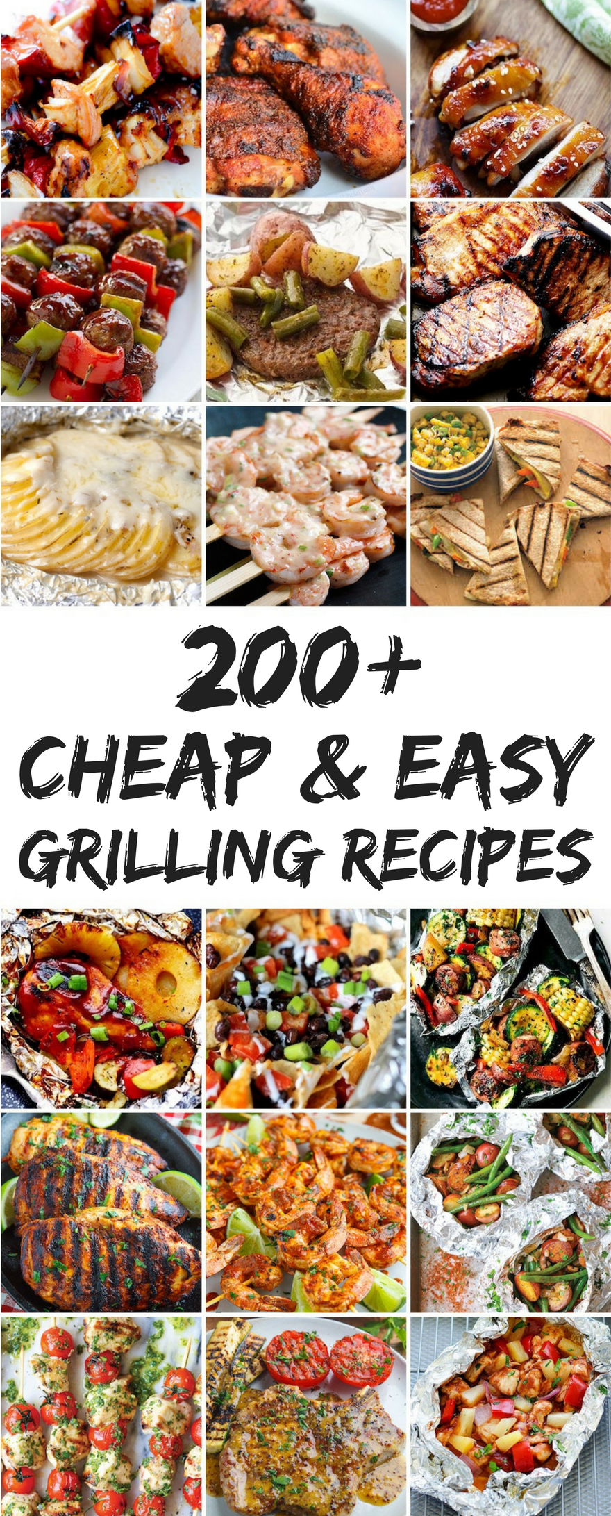 200 cheap and easy grilling recipes | easy dinner ideas | pinterest