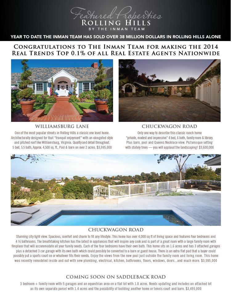 Rolling Hills Newsletter December Rolling Hills Hills Real Estate