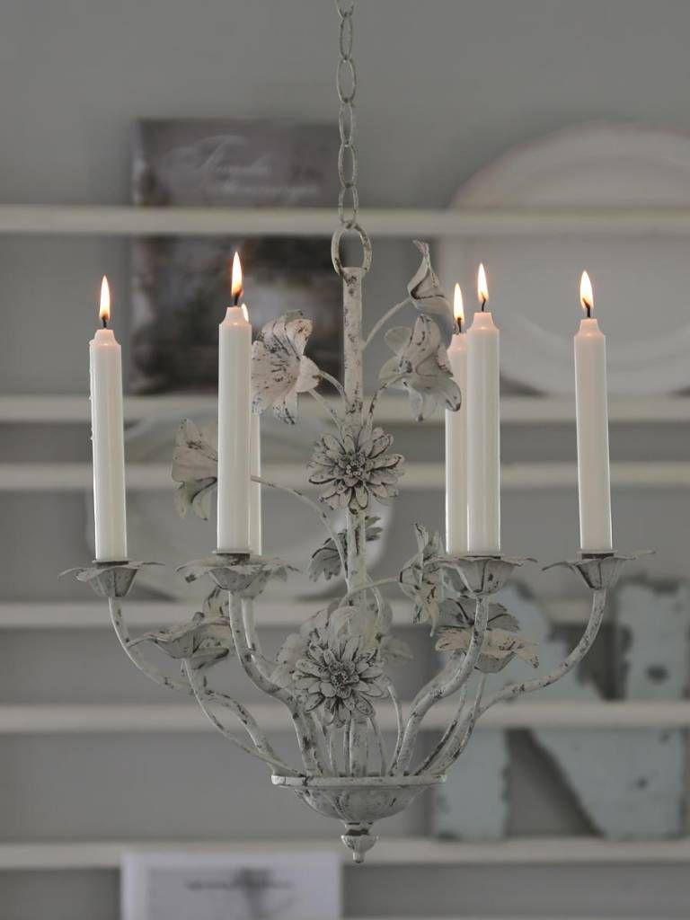 Chic Antique Kronleuchter 6 Armig Für Kerzen Gallery