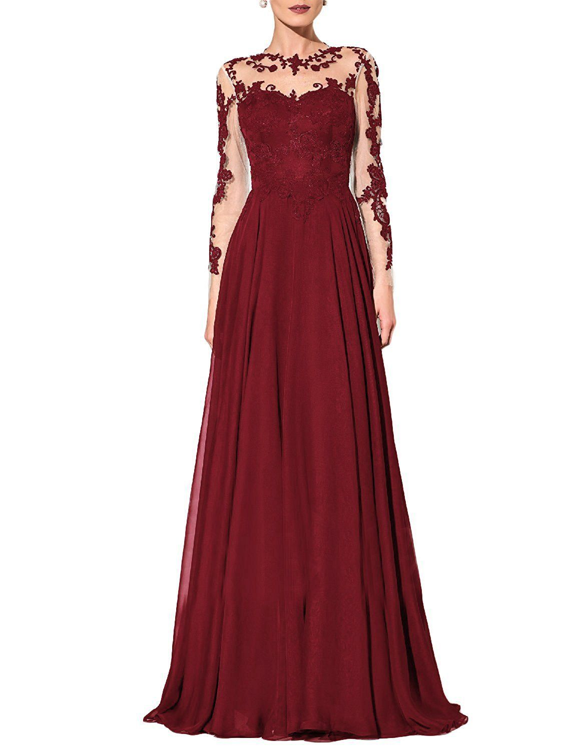 Onlinedress womenus chiffon prom dresses evening party gowns with