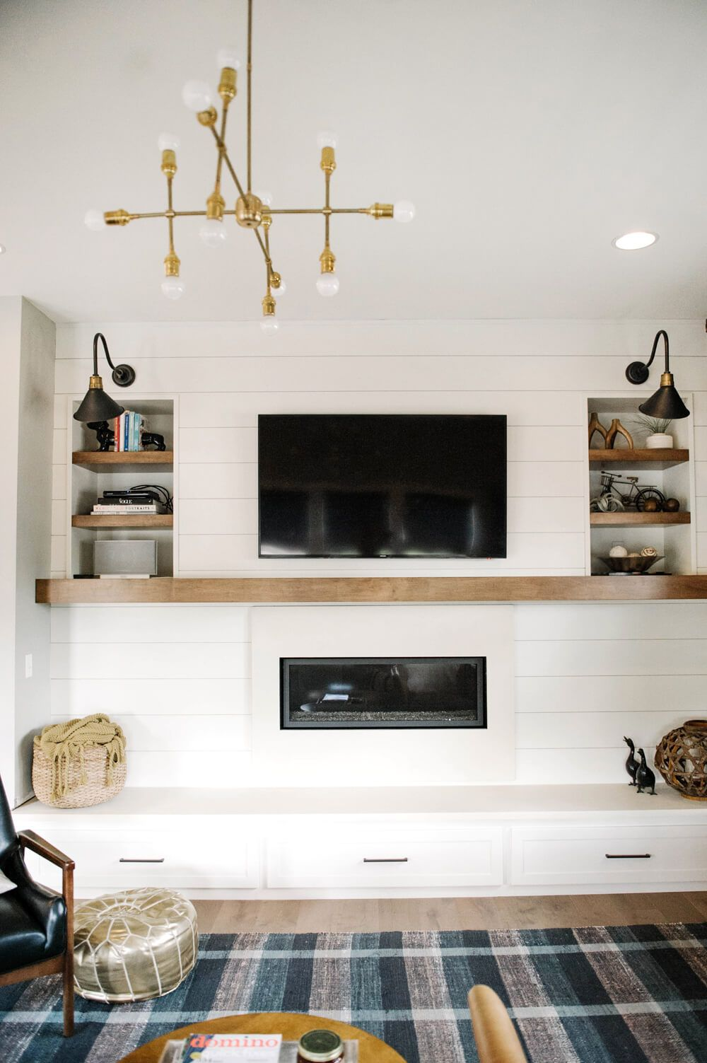 A Modern Farmhouse Fireplace Update Living Spaces