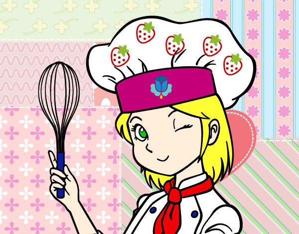 Chef mujer cocinando animado imagui cocina animada - Nina cocinando ...