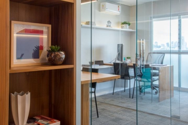 Feira De Artesanato Zona Sul ~ Escritório de arquitetura com divisórias em vidro com