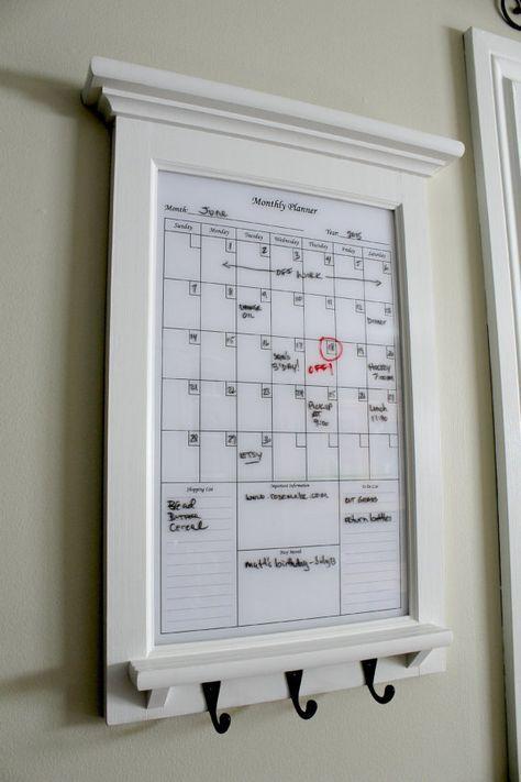 Pictue Frame Dry Erase Calendar Family Kitchen Or @Rozemake | Frame ...