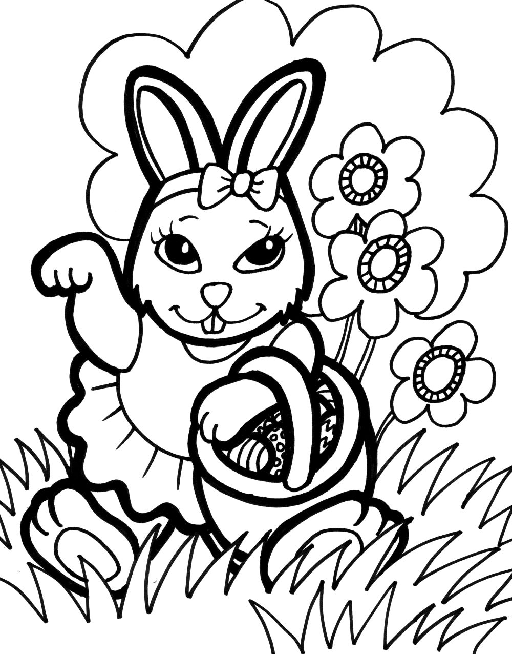 Minecraft Rabbit Coloring Pages Concept