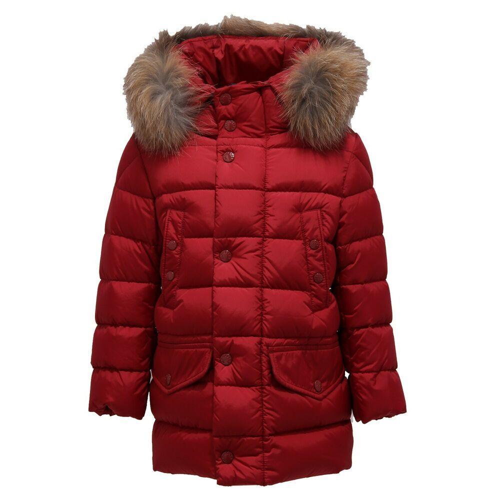 7917Y piumino boy bimbo dark red MONCLER MONTLIARD jacket