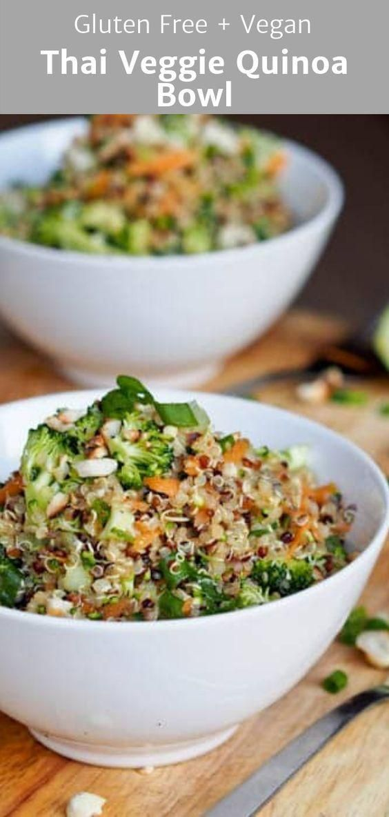 Thai Veggie Quinoa Bowls (Gluten-Free, Vegan)  - Food -