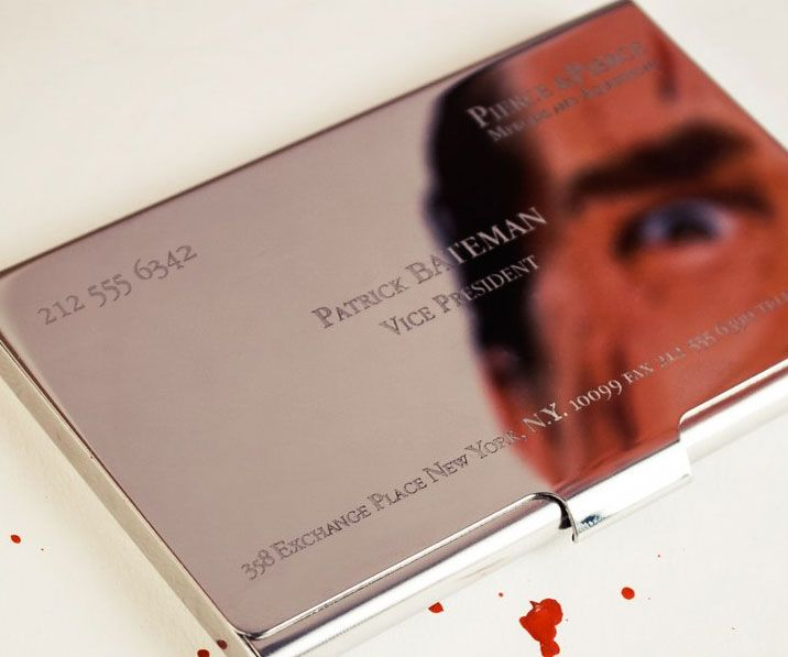 American Psycho Business Card Case Business Card Case Personal Business Cards Luxury Business Cards
